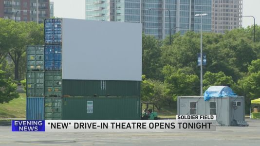 Chicago Park District holds first drive-in movie night at Soldier Field Wednesday