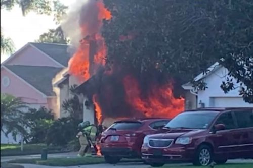 Amazon delivery driver saves elderly man from burning Florida house