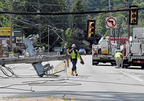 Babcock Boulevard partially closed after driver hits utility pole