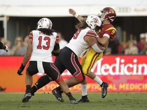 USC QB Slovis knocked out of Utah game on second play
