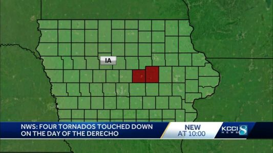 National Weather Service confirms 4 tornadoes in Iowa during derecho