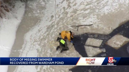 Body of swimmer pulled from icy pond