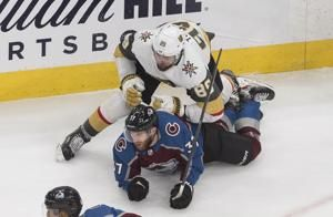 Tuch scores in OT, Knights beat Avs 4-3 for top seed