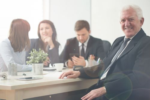 Mature people are working longer, and that's a benefit for companies