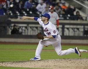 Mets' Rhame suspended 2 games for pitches near Hoskins' head