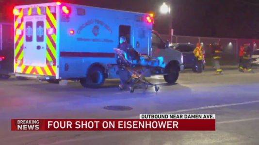 Overnight Eisenhower Expressway shooting leaves 4 people injured, 2 in critical condition