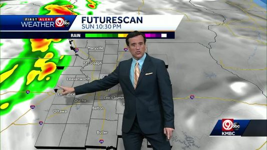 First Alert: Severe storms possible Sunday evening