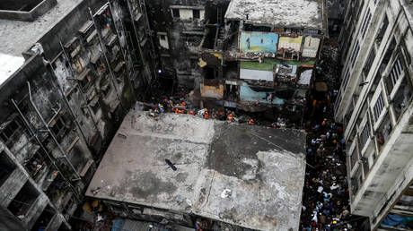 Building collapses in India killing at least 10, more feared trapped as rescue operations are underway