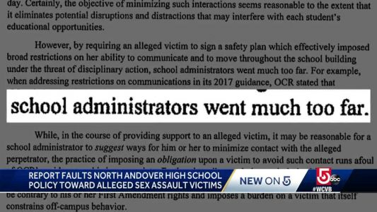 Report faults high schoool policy toward assault victims