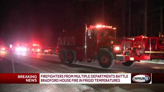 Firefighters from multiple departments battle Bradford house fire