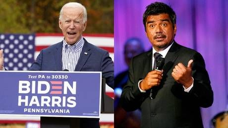 """""""Four more years of. George"""" Bush or Lopez? Liberals and conservatives clash over who Biden referred to in suspected gaffe"""