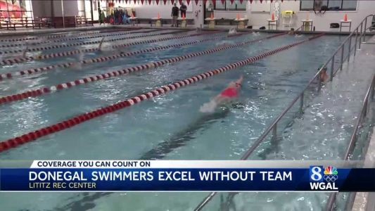 Donegal High School swimmers compete despite not having official team