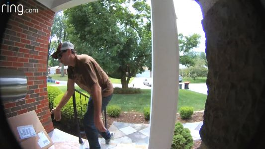 Theft suspect caught on camera stealing package from porch