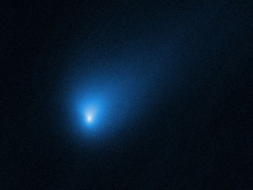 NASA's Hubble space telescope just took incredible photos of a visiting comet from another star system