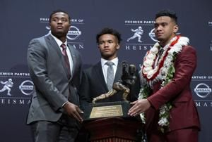 Kyler Murray, Oklahoma's two-sport star bound for MLB, wins the Heisman Trophy, giving the Sooners back-to-back winners