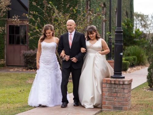 Teen daughters decided to 'pre-create' a wedding day so they could dance with their father after he was diagnosed with terminal brain cancer