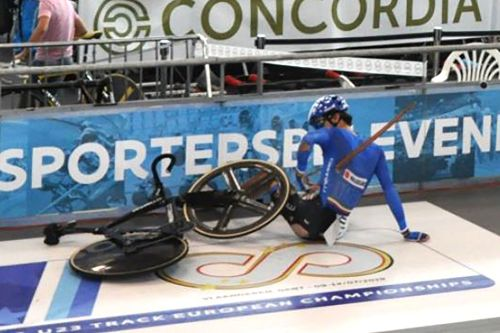 Italian cyclist impaled by piece of track in freak accident