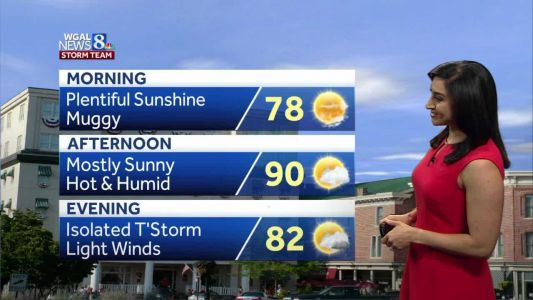 Hot and humid stretch ahead