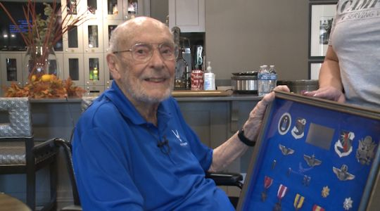 US Air Force veteran reunited with medals after they were sold in an auction