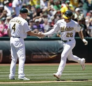 Chapman gets to Castillo again, A's beat Rays 4-2