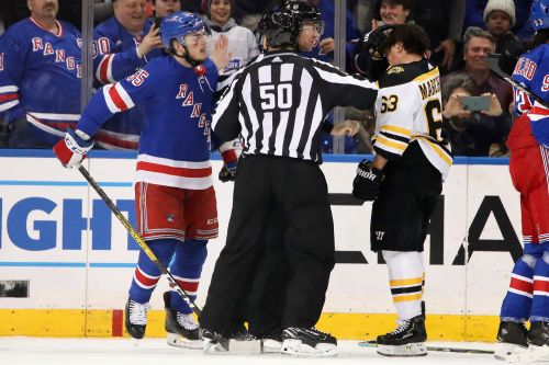 Brad Marchand disses Rangers' Ryan Lindgren after ugly hit