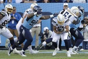 Goal-line woes cost Chargers again in 23-20 loss to Titans
