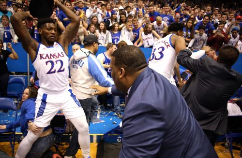 Kansas-Kansas State melee includes stool-wielding player