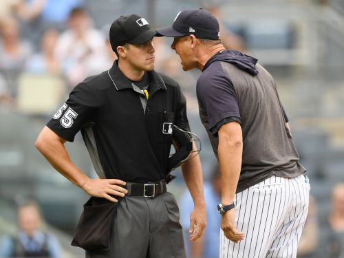 'My guys are f--- savages': Aaron Boone's tirade over umpire's strike zone gets caught on hot mics