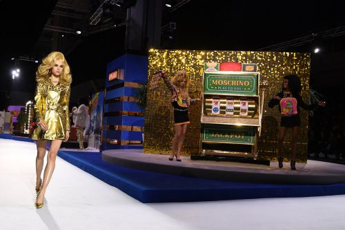 Moschino show shines with game-show theme and Ferrari
