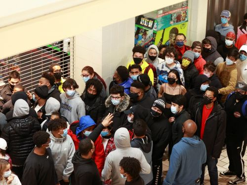 Photos show long lines outside stores like Best Buy and GameStop on Black Friday, despite the CDC labelling in-store shopping as a 'higher-risk' activity