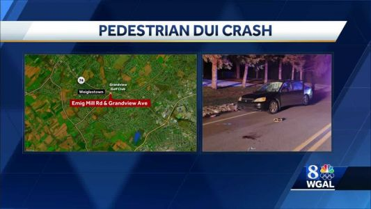 Police: Pedestrian injured in DUI-related crash in York County