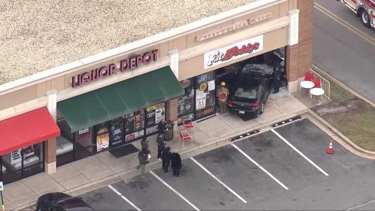 Car crashes into Fat Daddy's Liquor Depot in Catonsville