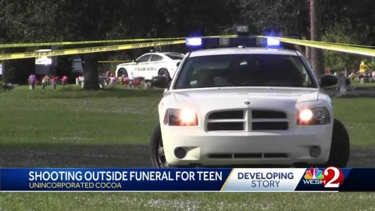Mother of Cocoa teen shot by deputy shot during son's burial service