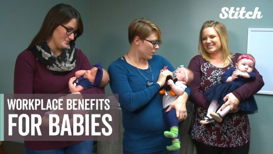 This workplace encourages new parents to bring their babies to work