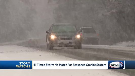 Snow doesn't stop commuters, holiday travelers