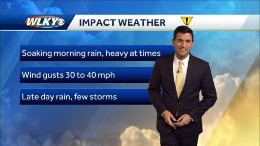 Windy and wet Wednesday