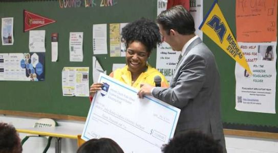 8 JCPS seniors, all first-gen college students, get scholarship surprise