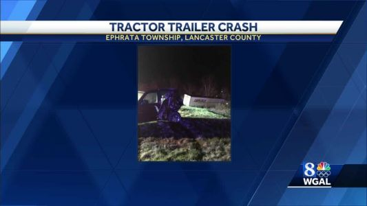 Tractor-trailer hits disabled vehicle along Route 222