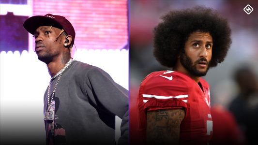Does Colin Kaepernick disapprove of Travis Scott's Super Bowl halftime appearance?