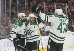Benn scores in OT as Stars beat Oilers 5-4