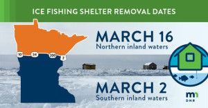 DNR: Deadline To Remove Ice Fishing Houses Is Near