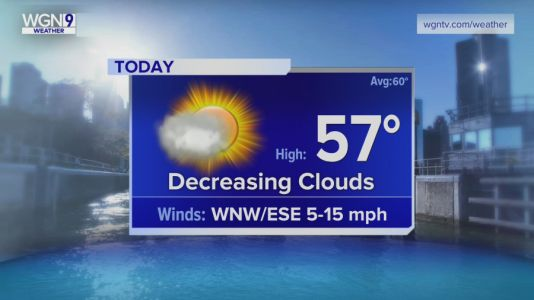 Wednesday Forecast: Temps in upper 50s with decreasing clouds