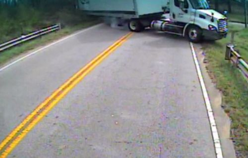 Dramatic video shows tractor-trailer hit Greenville County school bus carrying special needs students