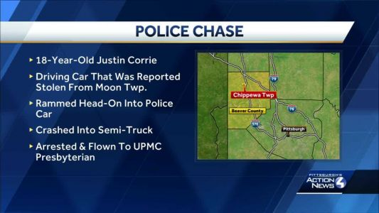 Teen arrested after police chase in Beaver County