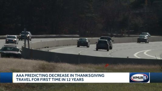 AAA predicts decrease in Thanksgiving travel for first time in 12 years