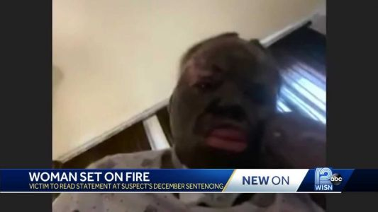 Woman set on fire to read victim-impact statement at sentencing hearing