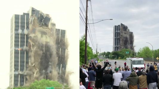Watch video: 21-story building imploded to rubble within seconds