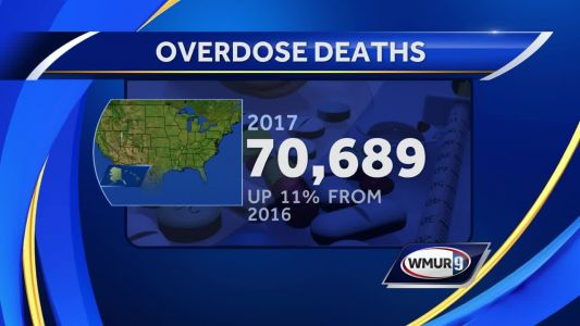 CDC releases new report about overdose deaths in NH, US