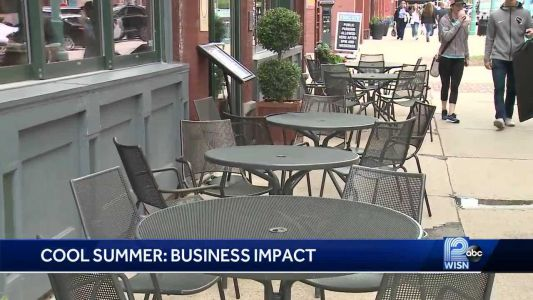 Businesses feel impact of cool summer weather