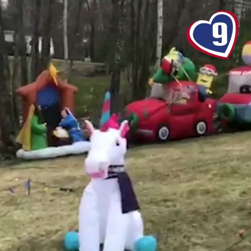 9 Loves: Milford family inflates lawn decoration for each day of self-isolation